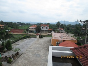 View of our courtyard