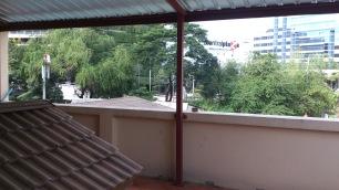A big balcony